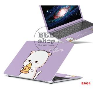 Skin laptop BEE SHOP mẫu CAT cho các dòng máy Asus/Dell/Acer/Hp