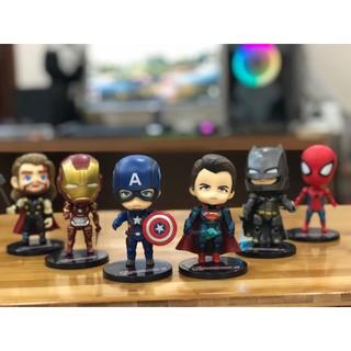 Mô hình 06 Nhân Vật Trong Phim Siêu Anh Hùng Marvel Avengers – Mẫu 01