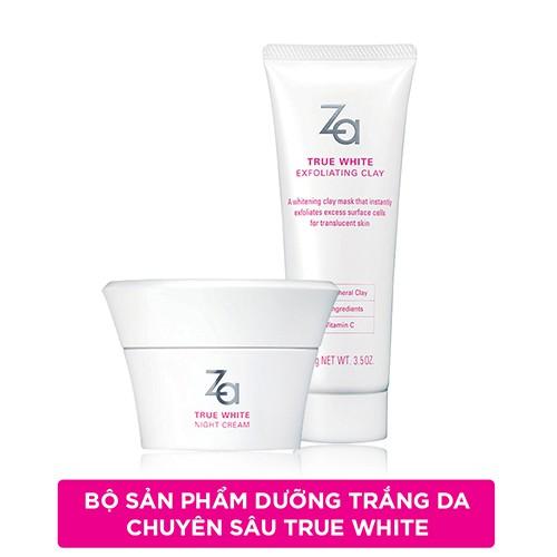 Bộ sản phẩm Za True White: Kem dưỡng làm sáng cho da khô ban đêm + Kem tẩy tế bào chết Exfoliating C - 3236329 , 704575540 , 322_704575540 , 484000 , Bo-san-pham-Za-True-White-Kem-duong-lam-sang-cho-da-kho-ban-dem-Kem-tay-te-bao-chet-Exfoliating-C-322_704575540 , shopee.vn , Bộ sản phẩm Za True White: Kem dưỡng làm sáng cho da khô ban đêm + Kem tẩy tế