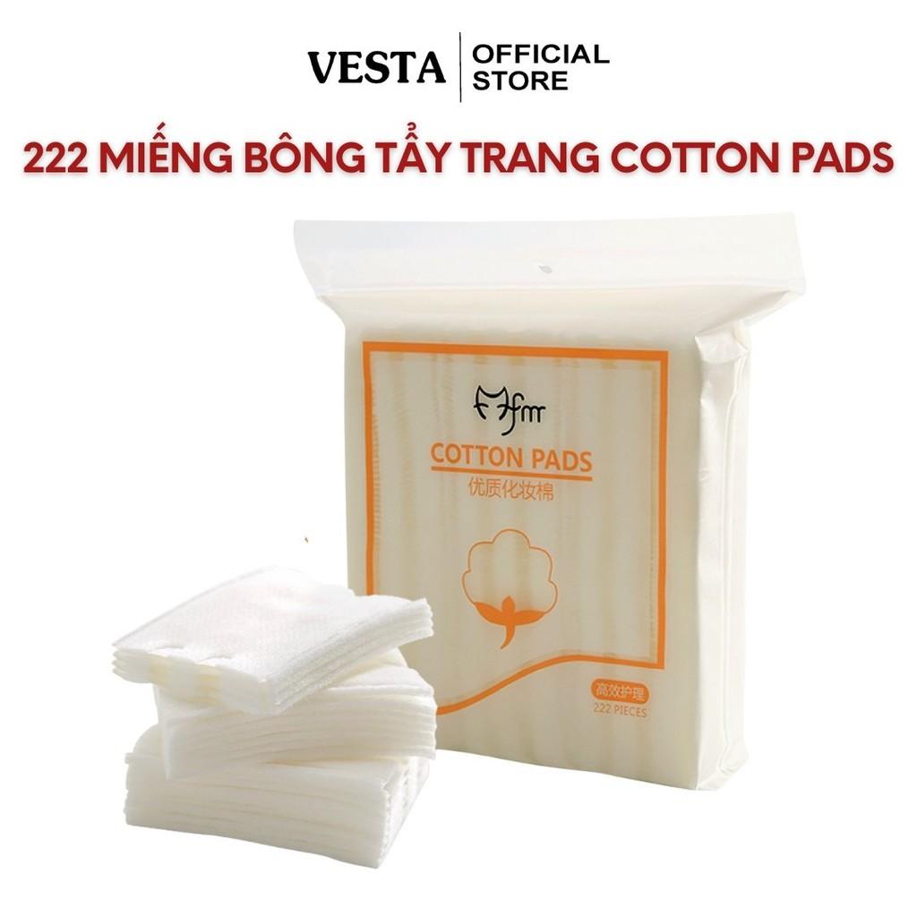 Bông tẩy trang 222 miếng - bông tẩy trang 3 lớp - bông tẩy trang cotton pads