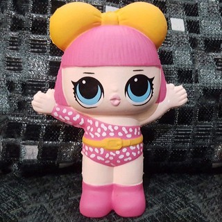 【HKM1】13cm Cute Cartoon Pink Girl LOL Surprise Doll Scented Squishy Slow Rising Toy