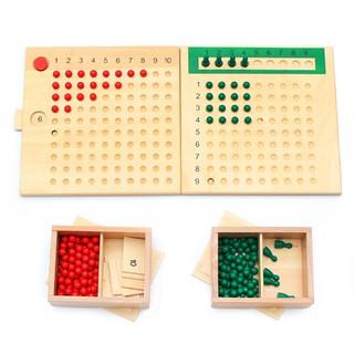 Bộ giáo cụ toán học Montessori về phép nhân phép chia