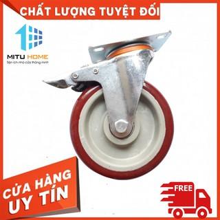 Bánh xe đẩy hàng xoay 360 độ cao cấp 7,5cm, 10cm, 12cm màu mận chín, chịu lực 150-200kg – MITUHOME