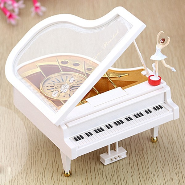 MD Classical Music Boxes Clockwork Type Rotary Classical Ballerina Girl On The