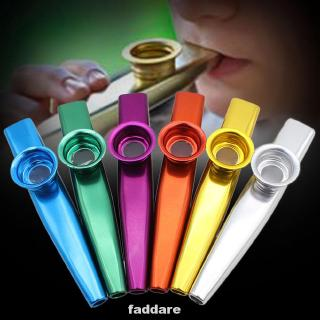 6 Pcs Kazoo Metal Musical Instrument Band Use Gift Non-toxic Funny Party Supplies