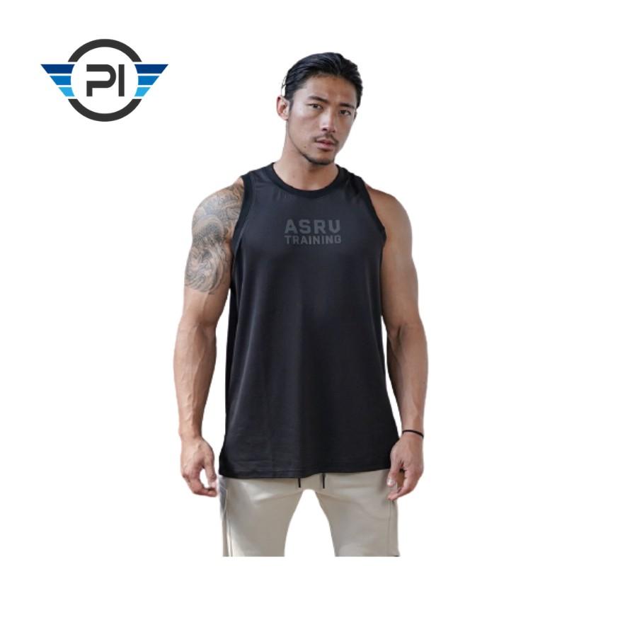 Bộ đồ tập gym nam ASRV training kết hợp áo gym 3 lỗ nam cực chất(video thật)
