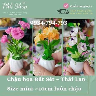 Tiểu cảnh hoa đất sét mini Thái Lan siêu đẹp siêu đáng yêu