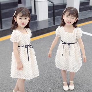 Đầm cotton màu trơn dễ thương cho bé gái