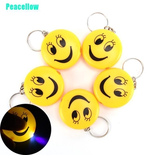 Peacellow Cartoon Emoji Design Led Key chain With Sound Flashlight Kid Pig Keyring