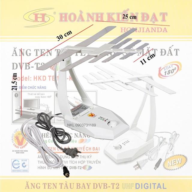 Ăng ten hkd105 dùng cho tivi tích hợp và đầu thu dvb t2
