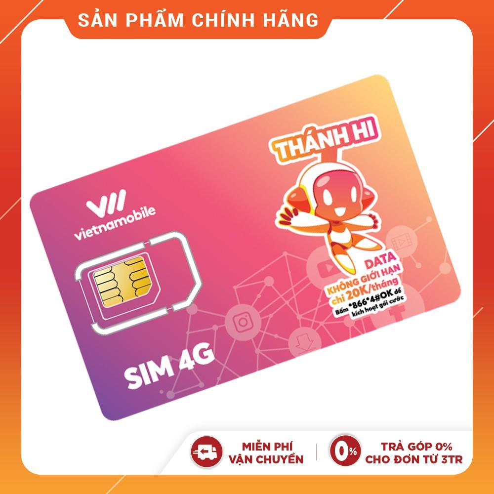[Mã ELMALLMT giảm 8% đơn 900K] Thánh Hi Sim Hoàn toàn miễn phí Data 4G Vietnamobile Thoại SMS Nội mạng chỉ 20K/tháng