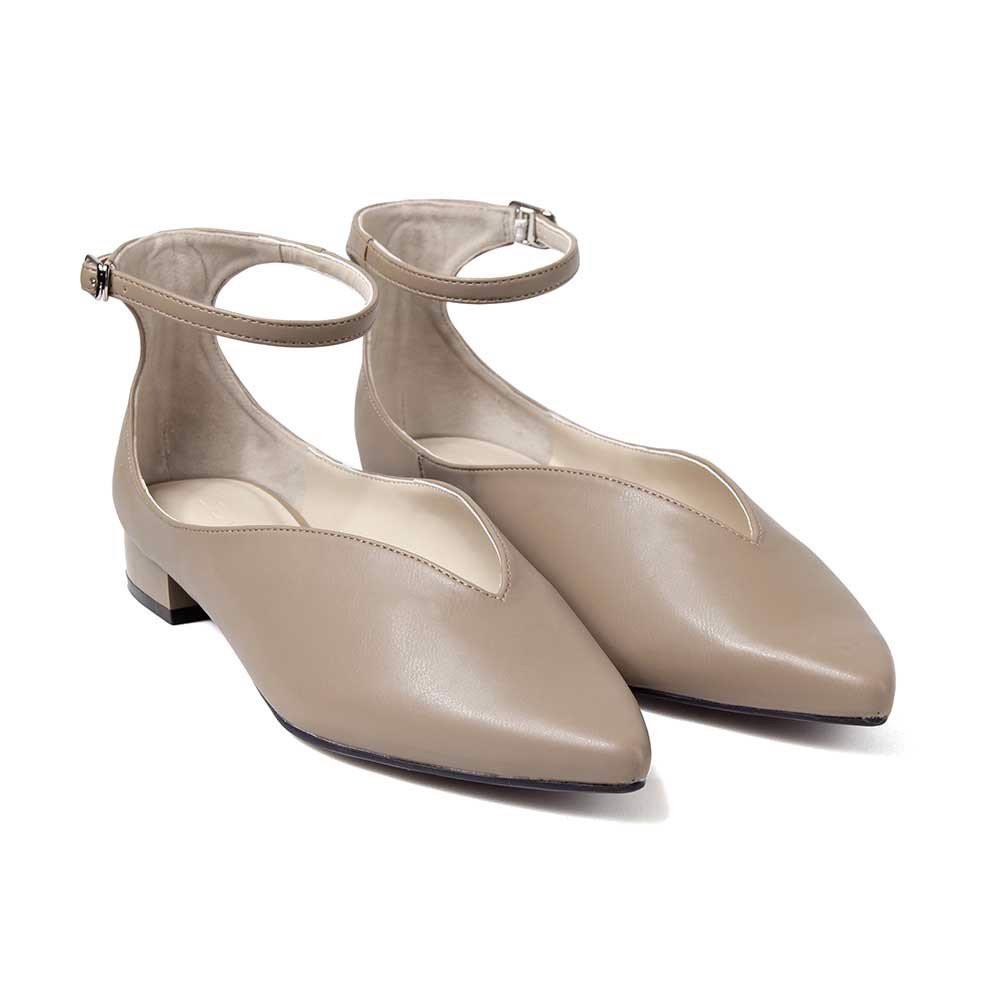 [Mã FASHIONJU20 giảm 20% đơn 199k] Juno - Giày búp bê mũi nhọn mặt giày khoét V BB03030