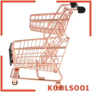 Xe Đẩy Mua Sắm Mini Kèm Giá Đỡ Kim Loại Chắc Chắn Tiện Dụng Koolsoo1