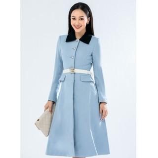 Áo măng tô xanh đai thiết kế Elise thumbnail