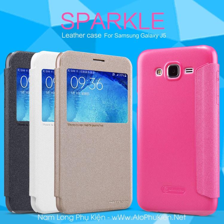 Bao da Galaxy J5 Nillkin Sparkle chính hãng