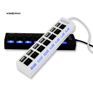 HUB chia 7 cổng USB 2.0 WDTE kèm công tắc ON/OFF cho Laptop PC