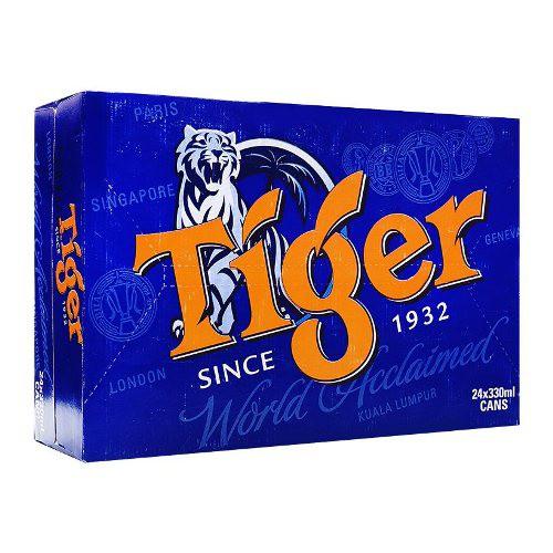 [CHỈ BÁN HCM] Thùng 24 lon Bia Tiger Thường
