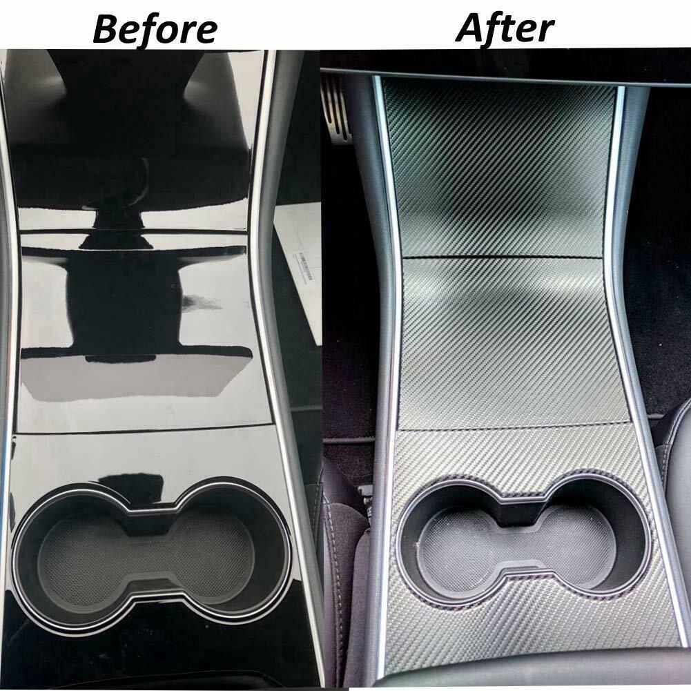 High Quality Durable  Tesla Model 3 Center Console Inner Decoration Cover Sticker Vinyl Wrap Kit