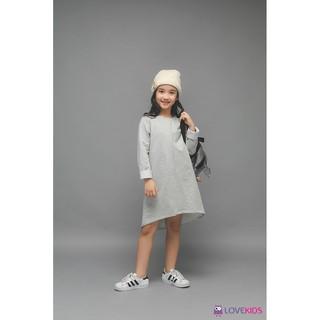 Váy nỉ dài tay dáng suông LK0283 - Lovekids