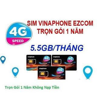 Sim Vinaphone D500 12T trọn gói 1 năm với 5.5GB/tháng, không cần nạp tiền, không mất phí duy trì