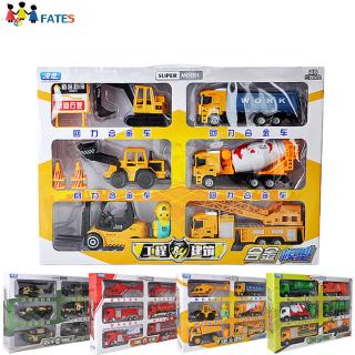 6Pcs/Set Kids Boys Different Shape Simulate Pull Back Car Toys