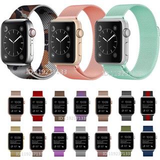 Dây đeo Apple Watch Strap 38/40mm 42/44mm Vòng đeo bằng thép không gỉ thoáng khí với khóa từ tính cho iWatch Series SE 6/5/4/3/2/1