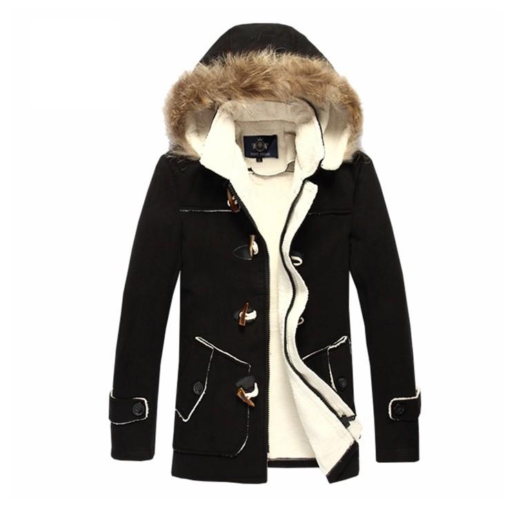 Áo khoác dạ nam lót lông ấm đẹp