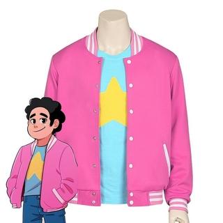 2020 new halloween party boy universe Steven Universe Quartz anime jacket sweater coat blue T-shirt pink coat cosplay suit