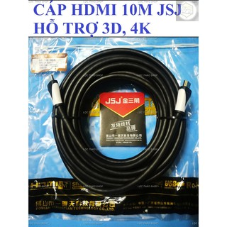 [Mã ELFLASH5 giảm 20K đơn 50K] Cáp HDMI dài 10M 15M JSJ BH 1T hỗ trợ 3D, 4K, Ethernet cho hình ảnh siêu nét