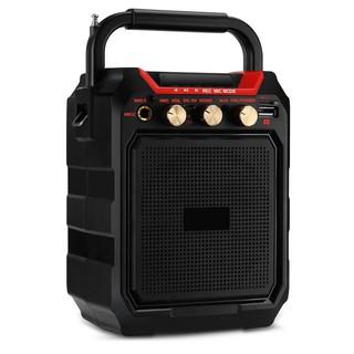 Loa bluetooth K99 âm thanh sống động. Loa hát karaoke- cắm đc 2 mic hát