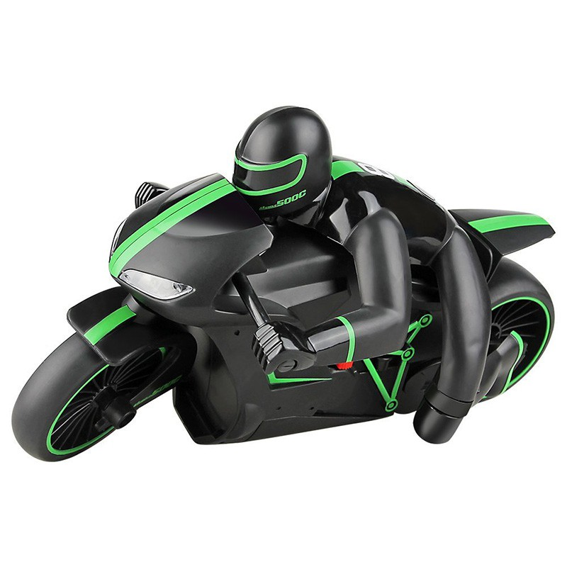 2.4G Rc Motorcycle With Cool Light High Speed Remote Control Green