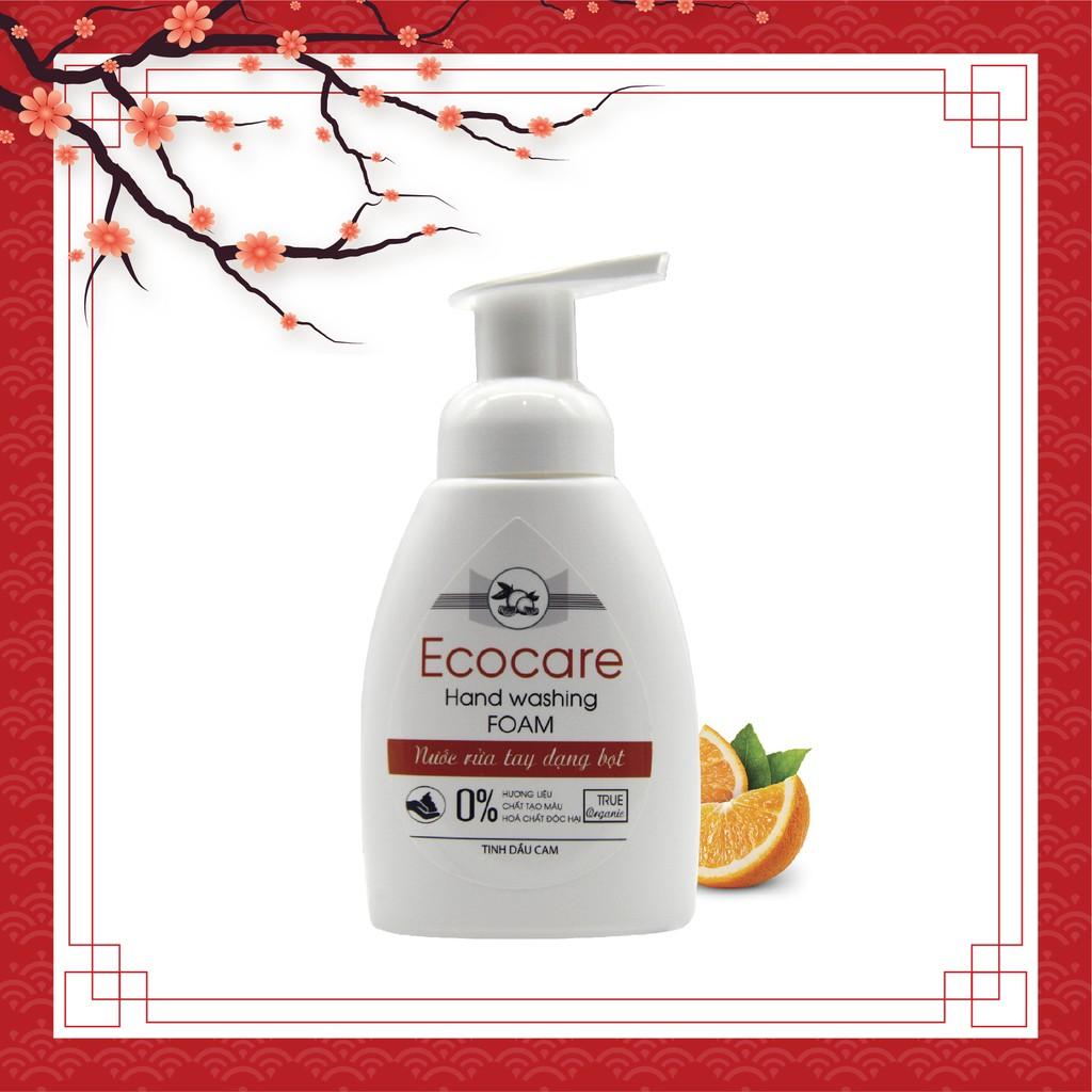 [Hương cam - 250ml] Nước rửa tay hữu cơ bồ hòn dạng bọt (Ecocare)
