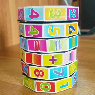 Creative Digital Cylindrical Plastic Cube Toy