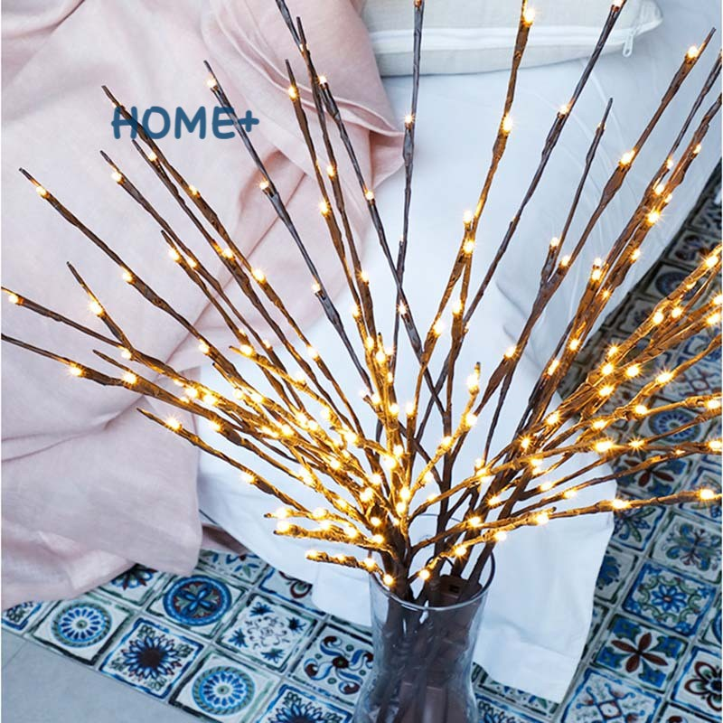 LED Willow Branch Lamp Floral Lights 20 LED Bulbs Home Party Garden Decor Xmas Birthday Gift @vn