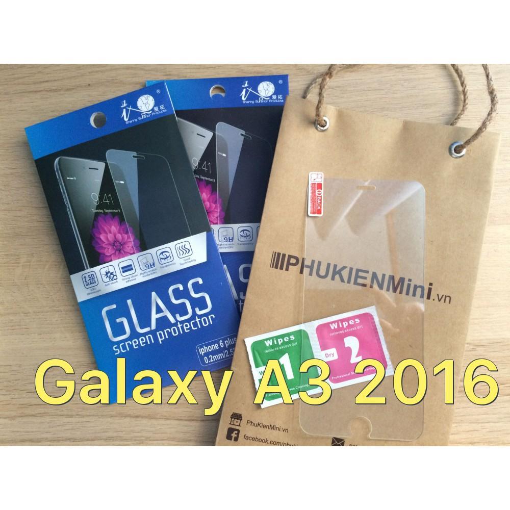 Dán cường lực 9H/2.5D cho Galaxy A3 2016
