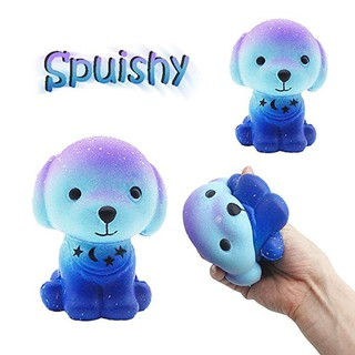 WX_Cute Soft Galaxy Dog Squishy Slow Rising Stress Reliever Kids Adult Squeeze Toys