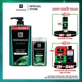 Dầu gội nam Romano Classic 900g + Sữa tắm sạch khuẩn Classic 180g