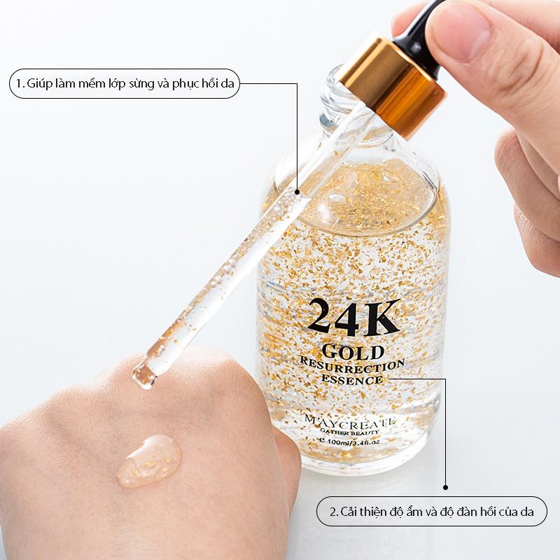 Tinh chất dưỡng trắng da cấp ẩm 24k Maycreate Whitening serum Nội Địa Trung