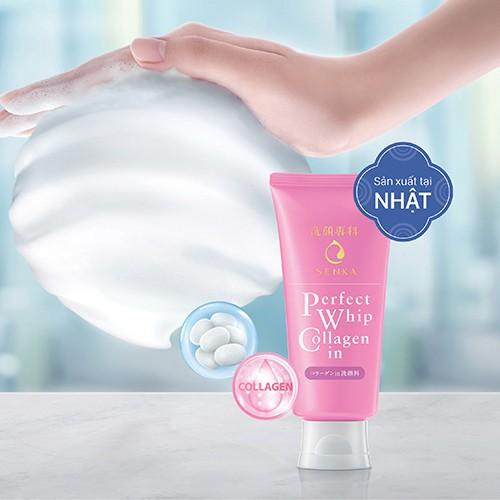 Sữa rửa mặt tạo bọt bổ sung Collagen Senka Perfect Whip Collagen In 120g_14836