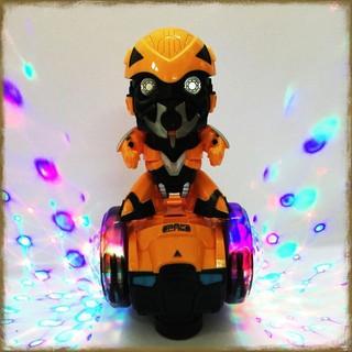 [Tặng Bộ Bóng Rổ Mini] Robot Bumblebee Chạy Bánh Xe Phát Sáng [Đồ Chơi An Toàn Cho Trẻ Em]