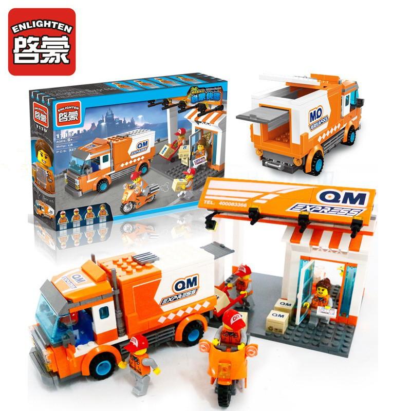 MIỄN PHÍ VẬN CHUYỂN + TẶNG BAO LÌ XÌ - Lego Enlighten Trạm chuyển phát nhanh 1119 - 337 chi tiết (Có