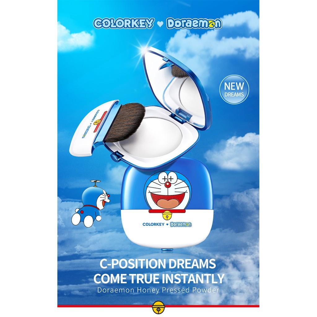 Phấn phủ dạng nén kiềm dầu lâu trôi Colorkey X Doraemon 5g