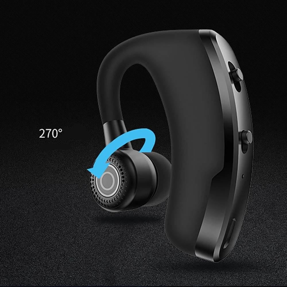 Tai nghe cao cấp chống ồn  FREE SHIP  Tai nghe Bluetooth V9 có mic màu đen sang trọng, thể thao thế hệ mới 5.0