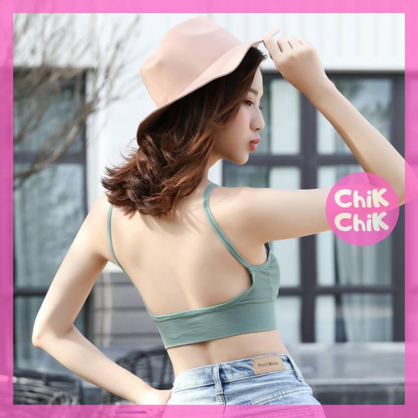 Áo hở lưng chữ U thun len tăm - ChikChik AL005