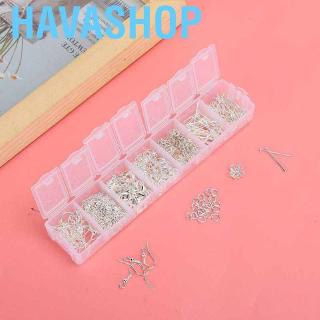 Havashop Earring Hooks Necklace Chain Lobster Clasp Jewelry DIY Accessory Tool Set