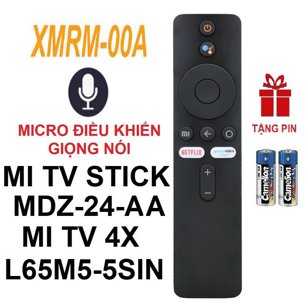 Remote điều khiển Xiaomi Mi TV STICK 4X MDZ-24-AA XMRM-00A (Micro điều khiển giọng nói - Bluetooth - Tặng pin)
