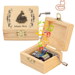 YOLA Mother s Day Wooden Hand Crank Valentine s Day Antique Engraved Music Box Classical Thanksgiving Day Birthday Memorial Gifts Musical Boxes thumbnail