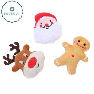 Pet Supplies Cat Self-excited Toy Stuffed Cotton Puppet Christmas Set Cat Toys [Booboom]