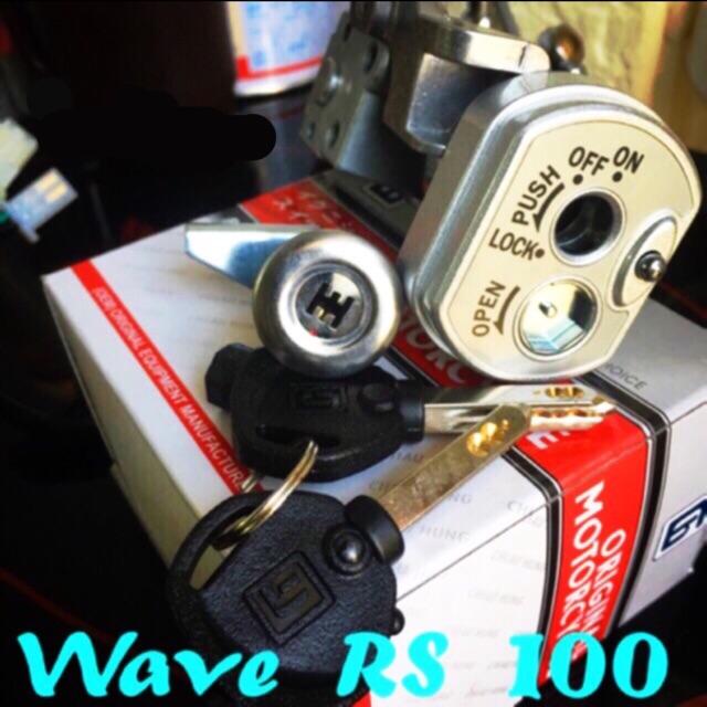 Ổ khoá điện 6 cạnh wave Rs100, ổ khoá 6 cạnh wave RS 100