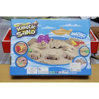 Bộ cát nặn sinh học, Cát động lực, Cát dẻo tạo hình cho bé yêu